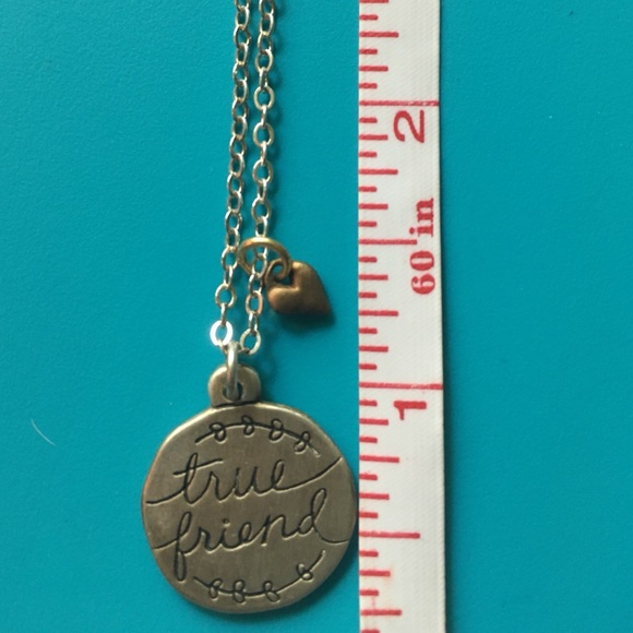 Jewelry - Silver true friend necklace
